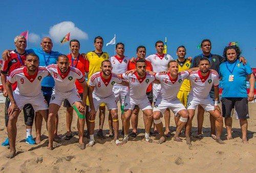 """صورة المغرب وصيفا لـ""""بطل العرب"""" في الكرة الشاطئية"""