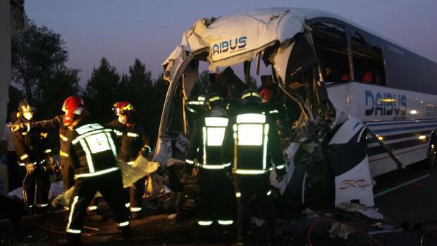 صورة إصابة 35 مغربيا بجروح في حادثة سير بإقليم قرطبة جنوب إسبانيا