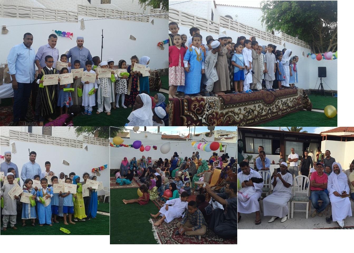 صورة حفل اختتام السنة الدراسية 2016/2015  بمسجد الهدى فويرتبنتورة  جزر الكناري