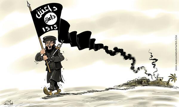 صورة داعش : المملكة المغربية قوية قوية جدا و هي الدولة الوحيدة التي استعصى علينا دخولها