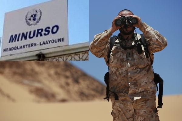 """صورة توقف جاسوسا من أفراد بعثة """"المينورسو"""" من طرف مصالح أمن العيون"""