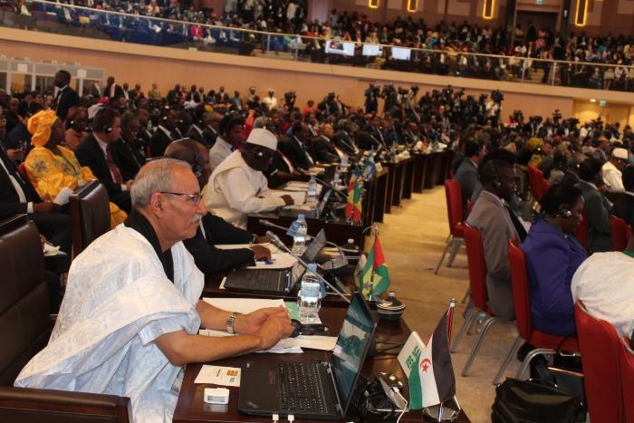 صورة امتناع كل من تونس وموريتانيا ومصر التوقيع على طلب خروج البوليساريو من منظمة الإتحاد الإفريقي و 8 أصوات إضافية لطرد الجبهة