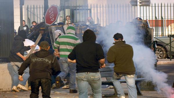 صورة مواجهات بين فرنسيين ومغاربة في كورسيكا