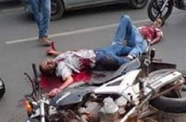 صورة مطاردة بوليسية بشارع ابن سيناء بالحي الحسني تنتهي بمقتل شخص وإصابة اثنين أحدهم إصابته خطيرة