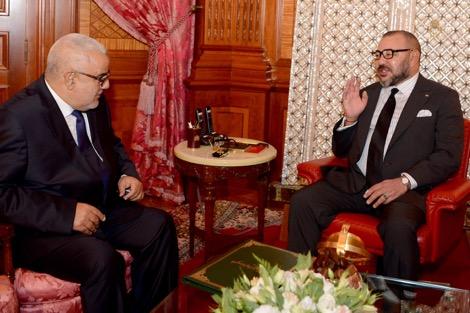 صورة استقبال الملك محمد السادس لبنكيران وتكليفه بتشكيل حكومة جديدة