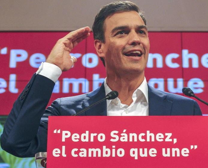 """صورة الأمين العام للحزب الاشتراكي الإسباني   """" بيدرو سان شيز """"يقدم استقالته"""